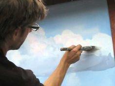 How to paint clouds technique - Mural Joe