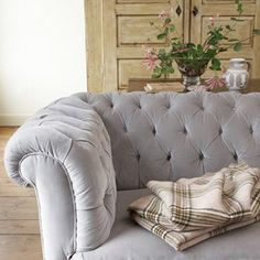 Tufted Grey Chesterfield Sofa... Timeless..