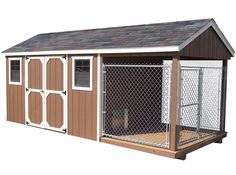 Shed with dog kennel/house
