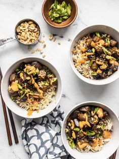 This Soy Glazed Eggplant stir fry is a super fast and easy vegetarian weeknight dinner, which also meal preps well for the week. BudgetBytes.com