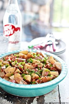 Skinny Bacon Potato Salad | FamilyFreshCooking.com