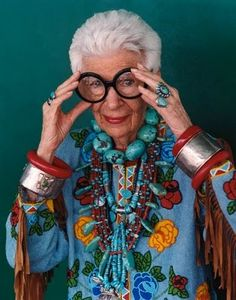 I adore Iris Apfel - look at all that jewelry!!!!