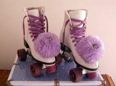 pom poms on skates. Yes!!!!!!