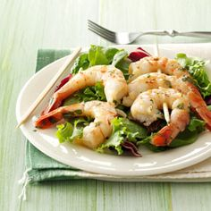Cilantro-Basil Grilled Shrimp Recipe from Taste of Home