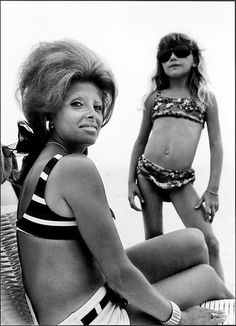 Joseph Szabo Mrs K and Daughter Jones Beach 1970