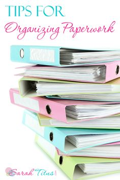 Tips for Organizing Paperwork #organizing