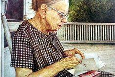 """Annie"" Watercolor Stan Miller"