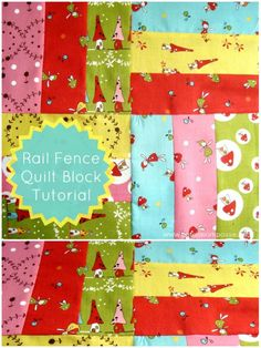 Rail Fence Quilt Block Tutorial #quiltblock #tutorial | patchwork posse