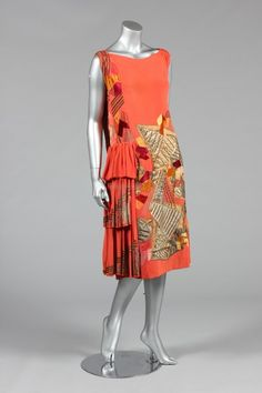 A futurist cocktail dress designed by Natalia Goncharova, circa 1924-5
