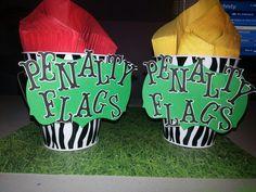Football party, napkin holders.