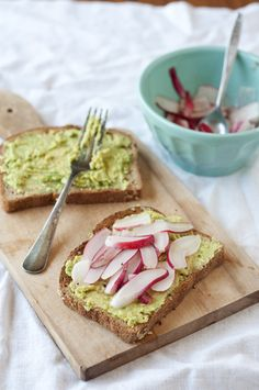 Radish and Avocado Sandwiches