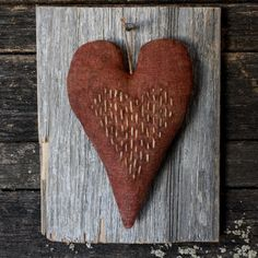 Primitive Valentine Heart on Barn Wood