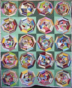 spiderweb quilts - mixed star