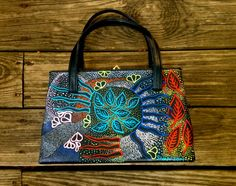 Dharma Trading Co. Featured Artist: Sivan Black-Rotchin- leather painting, shoes and handbags