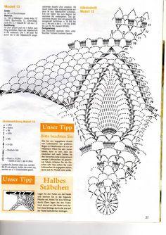 Crochet doily diagram