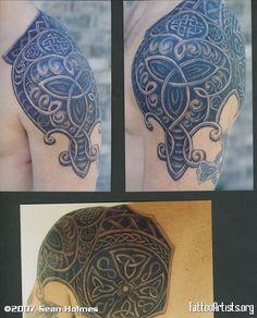 Celtic shoulder cap