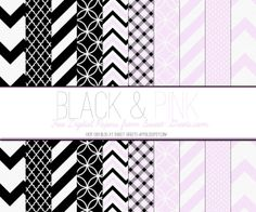 FREE DIGITAL PAPER SET: BLACK AND PINK