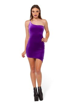 KaPow!!! Purple Dress - LIMITED by Black Milk Clothing $90AUD