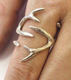 Antler ring- love this! I would wear this with everything