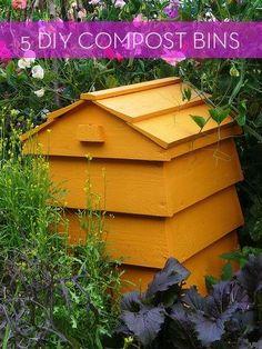 5 DIY Compost Bins  // Great Gardens  Ideas //