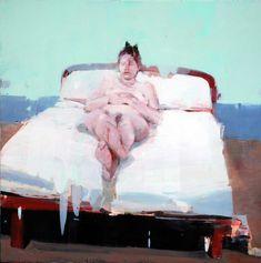 """Alex Kanevsky """"E.T."""" 24"""" x 24"""" oil on wood"""