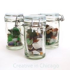 Idea for a #SeaGlass display. (http://craftgawker.com/page/2/) #Petes #Seafood #PetesSeafood (http://www.peteseafoodclub.com)