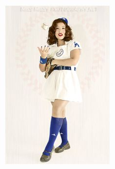 Love it :) Dodgers Pinup League of their own inspired photoshoot by Miss Missy Photography