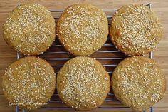 Sesame Seed Sandwich Buns Shared on https://www.facebook.com/LowCarbZen | #LowCarb #Bread #GlutenFree sandwich bun, lowcarb, sesam seed