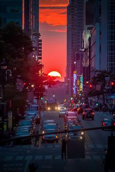 Sunset in Manhattan, NYC