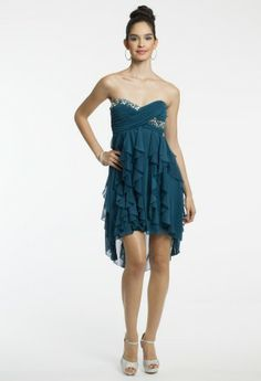 Strapless High-Low Dress with Hanky Hem from Camille La Vie and Group USA