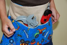 Tutorial for a tool belt- I'd go a different direction with the fabric though.