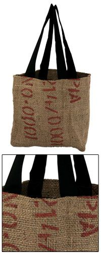 recycled coffee bean tote