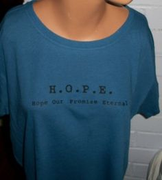 True Hope is found in Christ alone. Wear it and Share it!