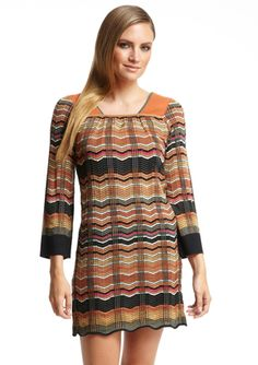 M MISSONI Long Sleeve Striped Dress