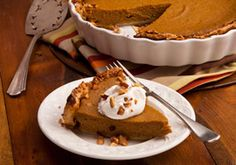 Holiday Pumpkin Pie made with almond milk