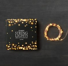 Starry String Lights - Amber Lights on Copper Wire