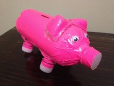 Upcycled Plastic Bottle Piggy Bank (great craft for you and your kids)