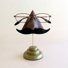 Classic Handlebar Mustache Key Hook (darker skin tone)