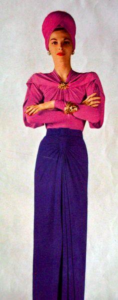 1944 Vogue US #millinery #turban #judithm