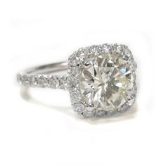 Square Halo Diamond Ring is buy my girlfriend anything