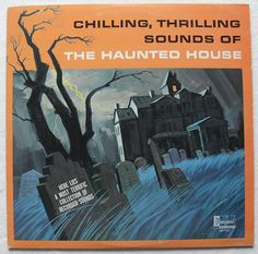 1964 HALLOWEEN vintage Haunted House record album DISNEY Sound Effects LP. #vintage #Halloween #records #mucis #1960s