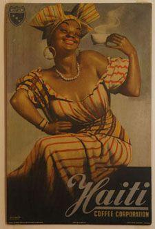 Haitian coffee vintage ad advertisement poster