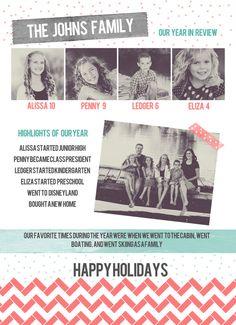 Infographic Newsletter Letter Christmas Card