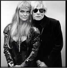Andy Warhol and NY socialite/IT girl, Cornelia Guest. They were good friends during the 80's
