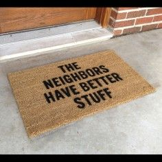 Burglar-Proof door mat. hahahaha
