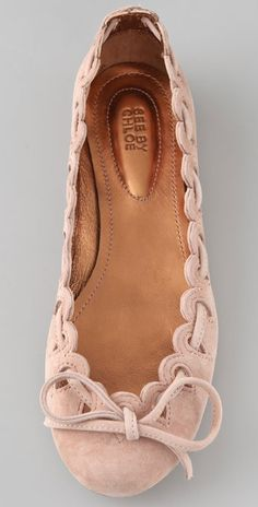 scalloped suede flats.