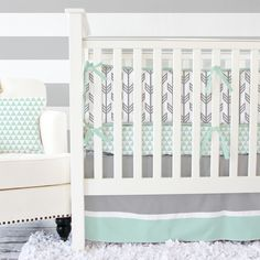 Project Nursery - Arrow Crib Bedding from Caden Lane