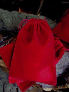 Red Velvet 5x7 Drawstring Bags (25 bags/pkg) $10 pkg
