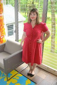 Erika Made It: Linen Gertie Shirtdress
