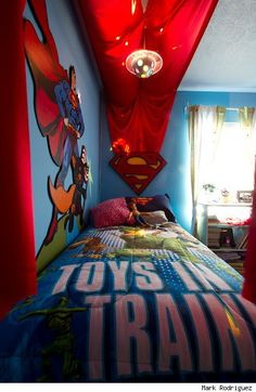 superman bedroom on pinterest superman room batman bedroom and